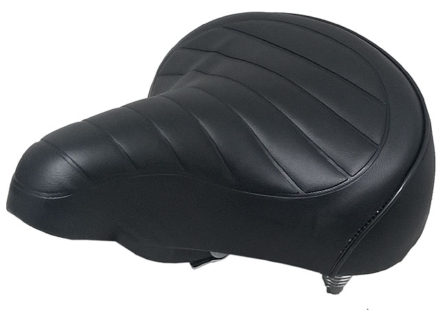 Saddle SSR City-Comfort Black with Twin Springs for Bike 20-24-26 type Holland