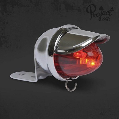 Light Baby Bee Led Chrome Red Project 346 Cruiser Custom Chopper R1381 Powered By Bst