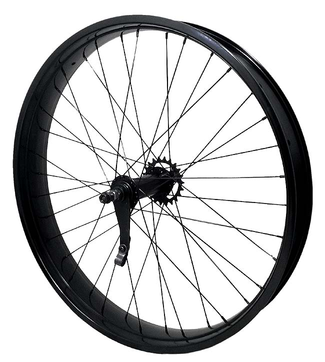 rear bicycle wheel 26 inch 80mm wide DoubleWall rim