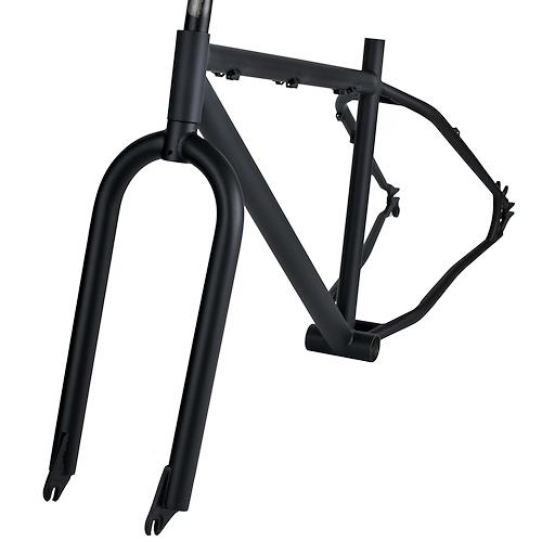 frame OOZEE FATBIKE 17 inch - Cr-Mo with fork BLACK - for your ...