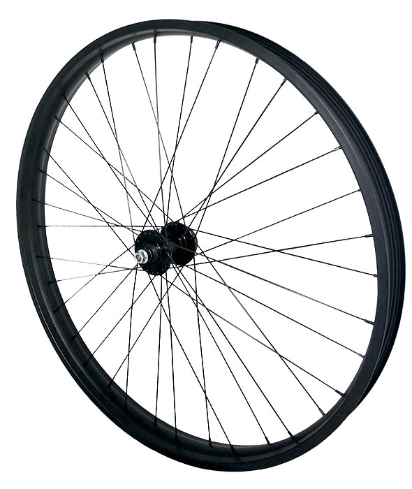 Frontwheel 26 Inch 50 Mm Wide Rim Black 36s Oozee Hub W